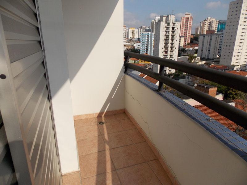 Jabaquara, Apartamento Padrão-Sacada da suíte com piso de cerâmica.