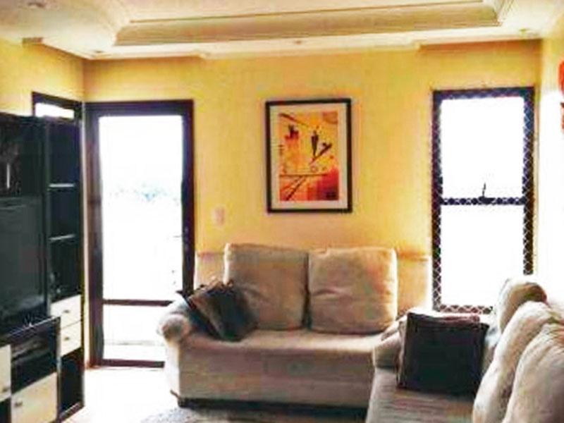 Sacomã, Apartamento Padrão - Sala com piso de porcelanato, teto com sanca de gesso, iluminação embutida e com acesso a varanda.