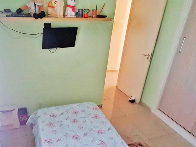 Sacomã, Apartamento Padrão-2º Quarto com piso de porcelanato e armários embutidos.