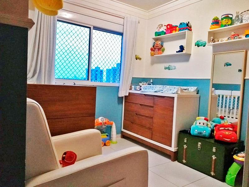 Ipiranga, Apartamento Padrão-3º Quarto com piso de cerâmica e teto com moldura de gesso.