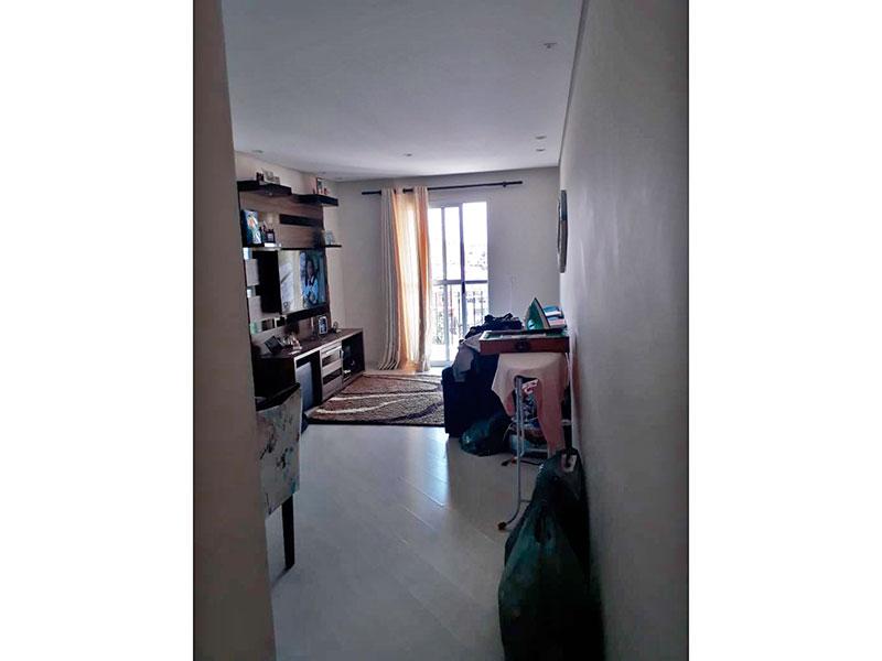 Sacomã, Apartamento Padrão - Sala em L com piso de laminado, teto com sanca, iluminação embutida e acesso a sacada.