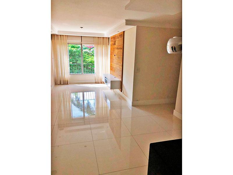 Jabaquara, Apartamento Padrão-Sala em L com piso de porcelanato, teto com sanca de gesso e iluminação embutida.