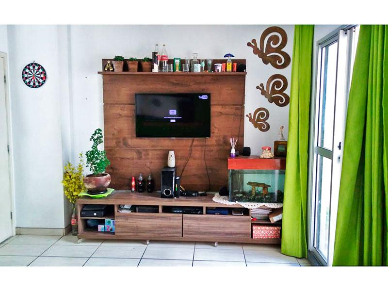 Sacomã, Apartamento Padrão - Sala integrada com a cozinha, com piso de cerâmica e acesso a varanda.