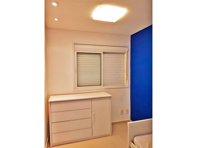 Sacomã, Apartamento Padrão-2º Quarto com piso de porcelanato, teto com sanca e iluminação embutida.