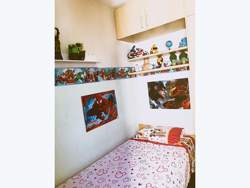 Jabaquara, Apartamento Padrão-2º Quarto com piso de taco e armários planejados.