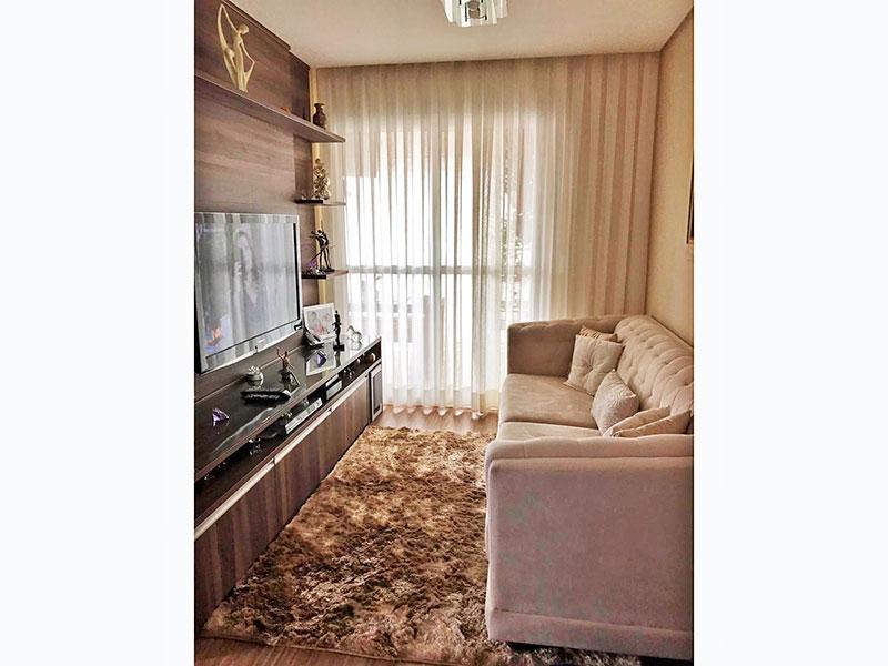 Sacomã, Apartamento Padrão-Sala com piso laminado, teto com sanca, iluminação embutida e acesso a varanda gourmet.