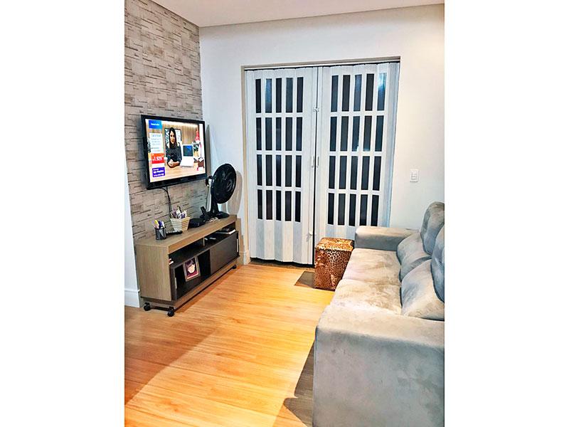 Ipiranga, Apartamento Padrão - Sala com piso laminado, teto com sanca, iluminação embutida e acesso a varanda gourmet.