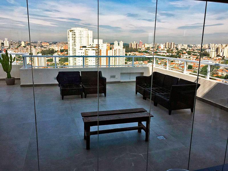 Ipiranga, Apartamento Penthouse-Varanda com piso de cerâmica.