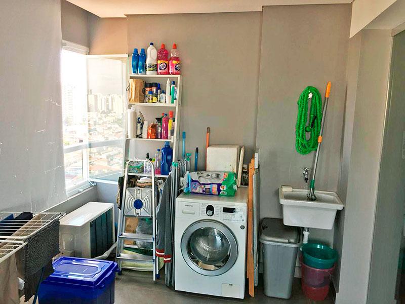 Ipiranga, Apartamento Penthouse-Área de serviço com piso de cerâmica.