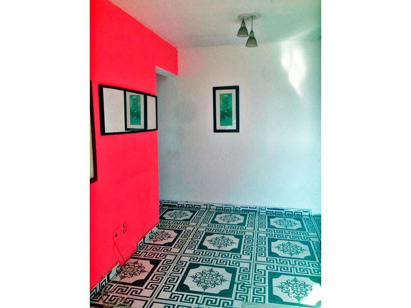 Jabaquara, Apartamento Padrão - Sala com piso de cerâmica e acesso a varanda.